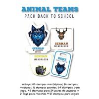 Pack Back to School Animal Teams