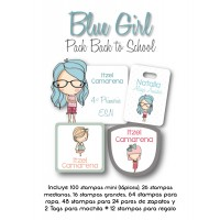 Pack Back to School Blue Girl
