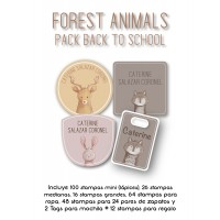 Pack Back to School Forest Animals