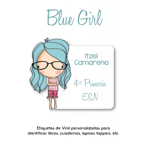 Pack Clothes & School Blue Girl