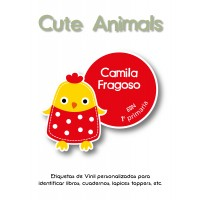 Escuela Vinil Cute Animals