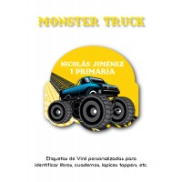 Escuela Vinil Monster Truck