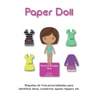 Pack Back to School Paper Doll