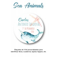 Escuela Vinil Sea Animals