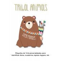Escuela Vinil Tribal Animals
