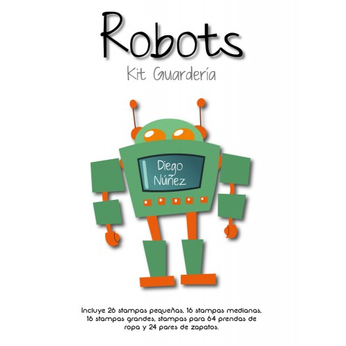 Kit Guardería Robots