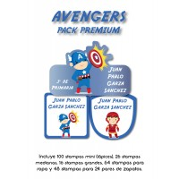 Pack Premium Ropa, Zapatos y Escuela Avengers