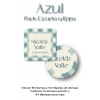 Pack Clothes & School Azul