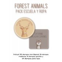 Pack Clothes & School Forest Animals