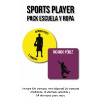 Pack Clothes & School Sports Player