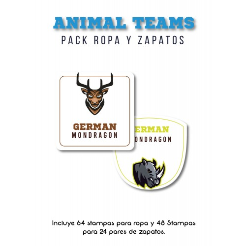 Pack Clothes & Shoes Animal Teams