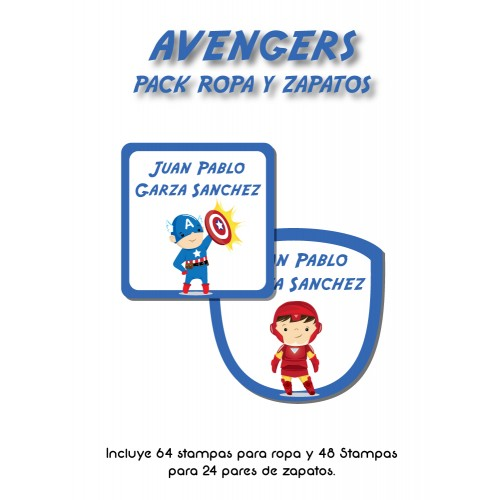 Pack Clothes & Shoes Avengers