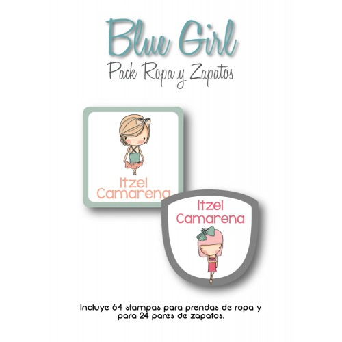 Pack Clothes & Shoes Blue Girl