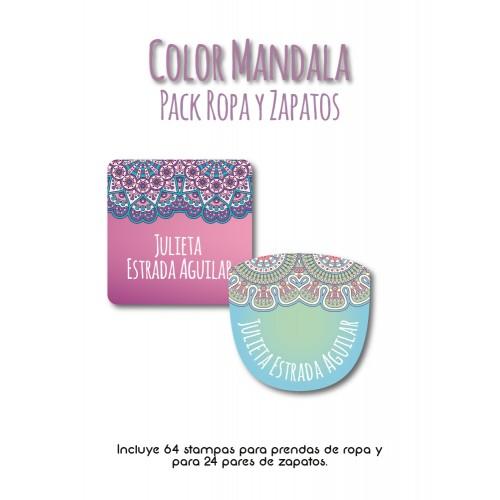 Pack Clothes & Shoes Color Mandala