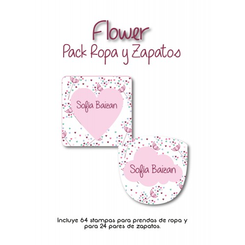 Pack Clothes & Shoes Flower