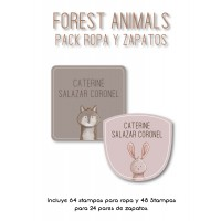 Pack Clothes & Shoes Forest Animals