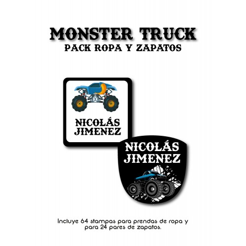 Pack Clothes & Shoes Monster Truck