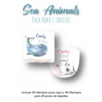Pack Clothes & Shoes Sea Animals