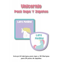 Pack Clothes & Shoes Unicornio